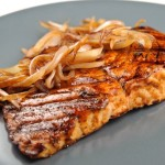 Balsamic Rosemary Glazed Grilled Salmon