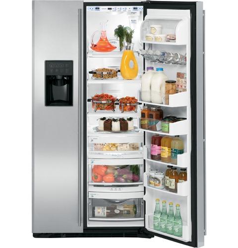 Ge Monogram Free Standing Side By Side Refrigerator1