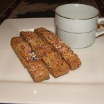 Christmas White Chocolate Chip Biscotti