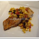Roasted Red Pepper Salmon with Southwest Corn