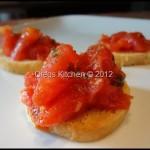 Tomato, Basil and Garlic Bruschetta