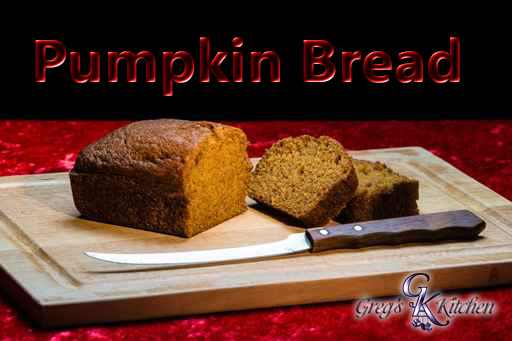 Pumpkin Bread and Knife