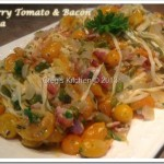Cherry Tomato and Bacon Pasta