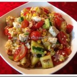 Summer Grilled Corn and Zucchini Salad