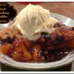 Country Peach-Blueberry Cobbler Crisp
