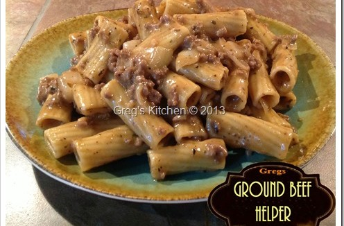 Ground Beef Helper Greg S Kitchen