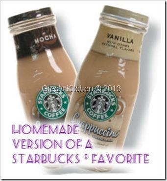 Homemade Starbucks R Bottled Frappuccino