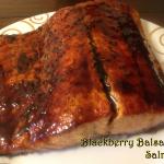 Blackberry Ginger Balsamic Glazed Salmon