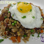 Bacon Fried Rice with Fried Egg