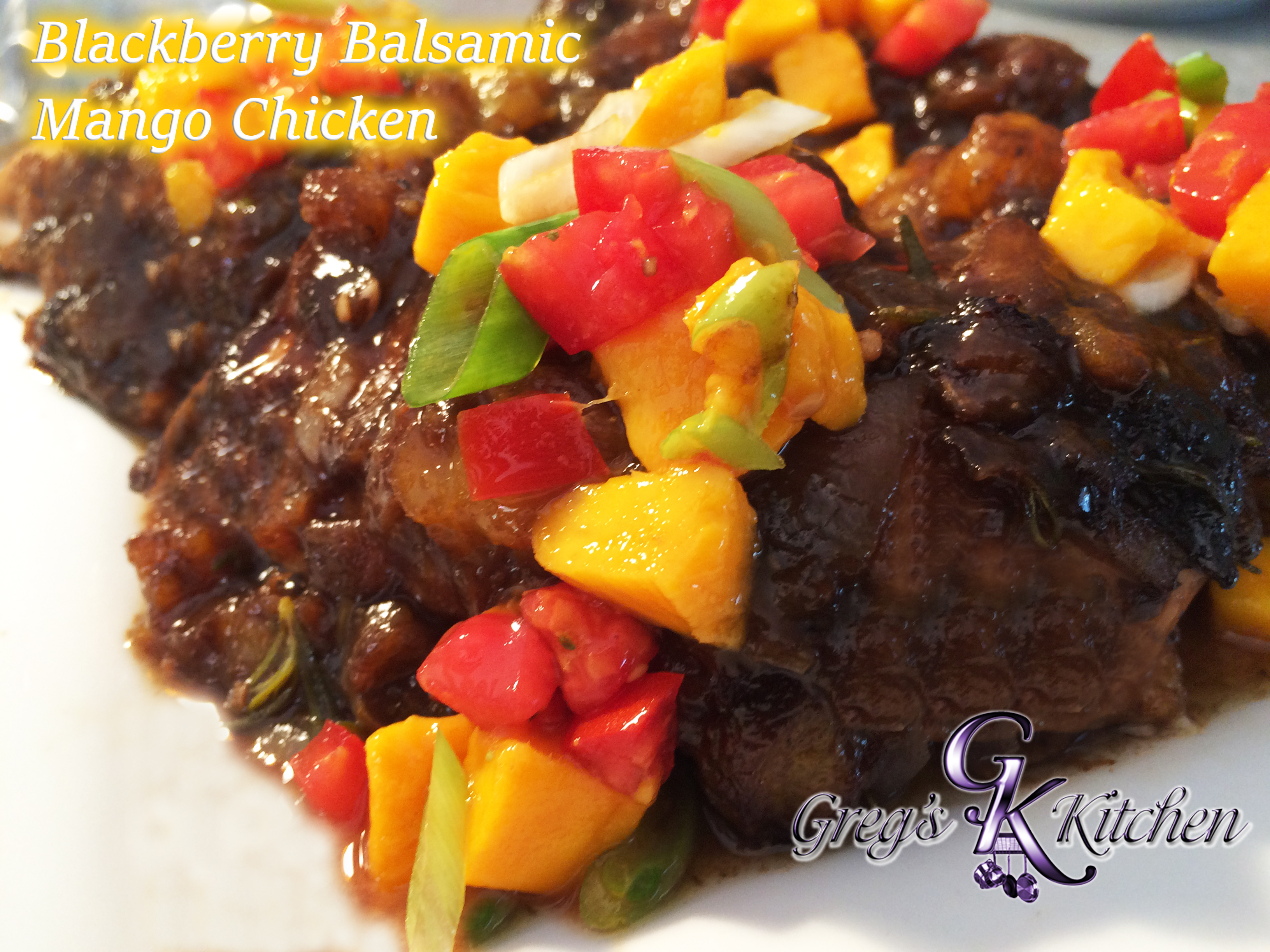 Blackberry Ginger Balsamic Mango Chicken