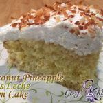 Coconut Pineapple Tres Leche Rum Cake