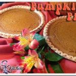 Pumpkin Pie/Sweet Potato Pie