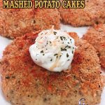 Oven Fried Mashed Potato Cakes