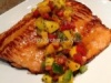 Spicy Peach Glazed Salmon